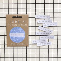 """Label """"this is the back"""""""