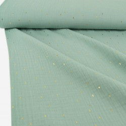 Musselin Foil Stripes mint...