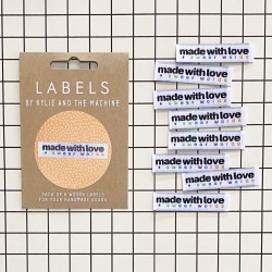 """Label """"made with love"""""""